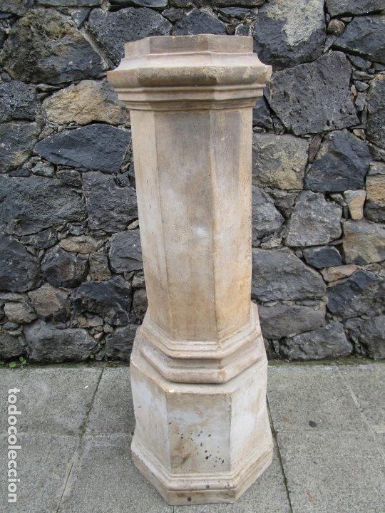 Antigüedades: Antigua Columna, Pedestal, Peana Terracota - Ideal Jardín - Jardinera, Copa, Fuente - S. XIX - Foto 10 - 181413482