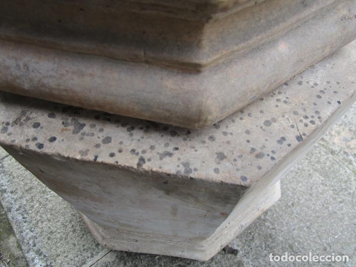 Antigüedades: Antigua Columna, Pedestal, Peana Terracota - Ideal Jardín - Jardinera, Copa, Fuente - S. XIX - Foto 13 - 181413482