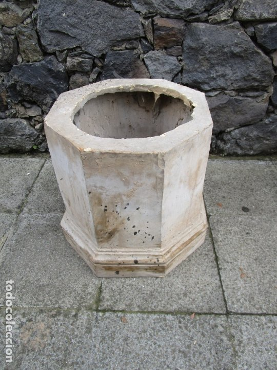 Antigüedades: Antigua Columna, Pedestal, Peana Terracota - Ideal Jardín - Jardinera, Copa, Fuente - S. XIX - Foto 15 - 181413482