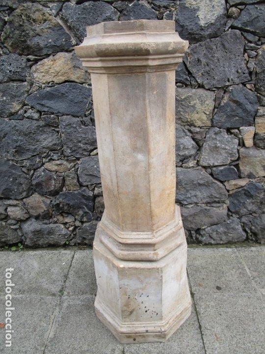 Antigüedades: Antigua Columna, Pedestal, Peana Terracota - Ideal Jardín - Jardinera, Copa, Fuente - S. XIX - Foto 20 - 181413482