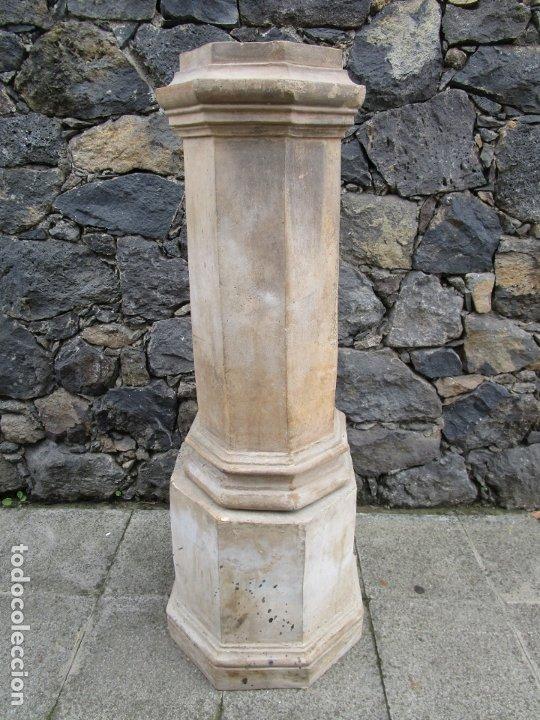 ANTIGUA COLUMNA, PEDESTAL, PEANA TERRACOTA - IDEAL JARDÍN - JARDINERA, COPA, FUENTE - S. XIX (Antigüedades - Hogar y Decoración - Otros)