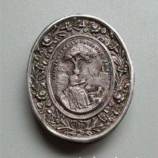 Antigüedades: RELICARIO DE SANTA GERMANA COUSIN VIRGEN. PATRONA DIÓCESIS TOULOUSE (FRANCIA) CON LACRE. SIGLO XIX . Lote 181430012