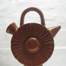 Antigüedades: ANTIGUO BOTIJO DE BOTÓN - TERRACOTA ESMALTADA. Lote 181433047