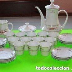 Antigüedades: JUEGO DE TE COMPLETO Y NUEVO CON EL SELLO ALOYA. Lote 181434713