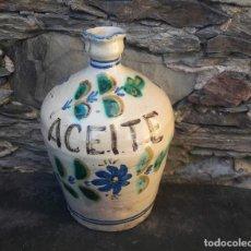 Antigüedades: ACEITERA CERAMICA PUENTE DEL ARZOBISPO. Lote 181436442