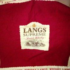 Antigüedades: PAÑUELO-WHISKY LANGS. Lote 181437432