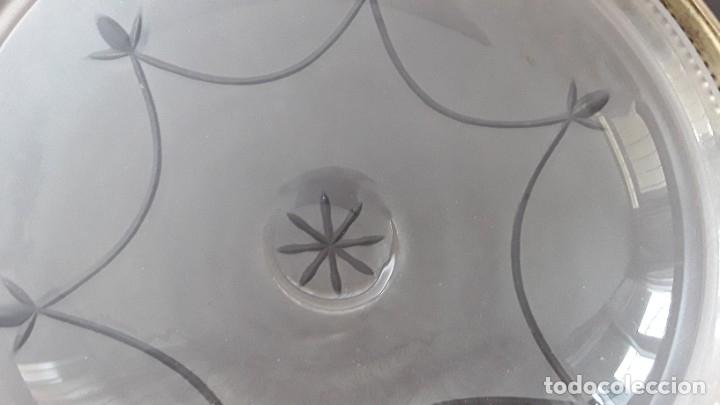 Antigüedades: Lámpara, plafón, cristal y latón - Foto 6 - 181438066