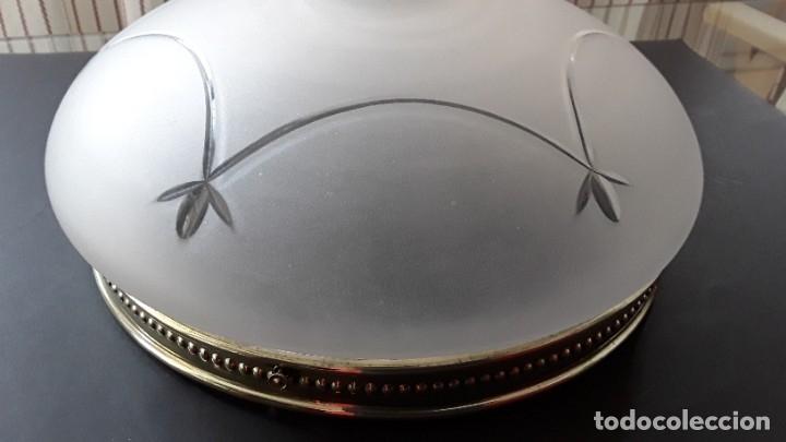 Antigüedades: Lámpara, plafón, cristal y latón - Foto 11 - 181438066