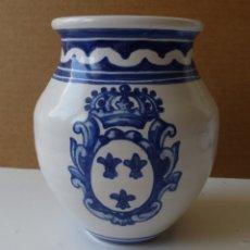 Antigüedades: BOTE FARMACIA TALAVERA CON ESCUDO CASA REAL ESPAÑOLA. Lote 181461233