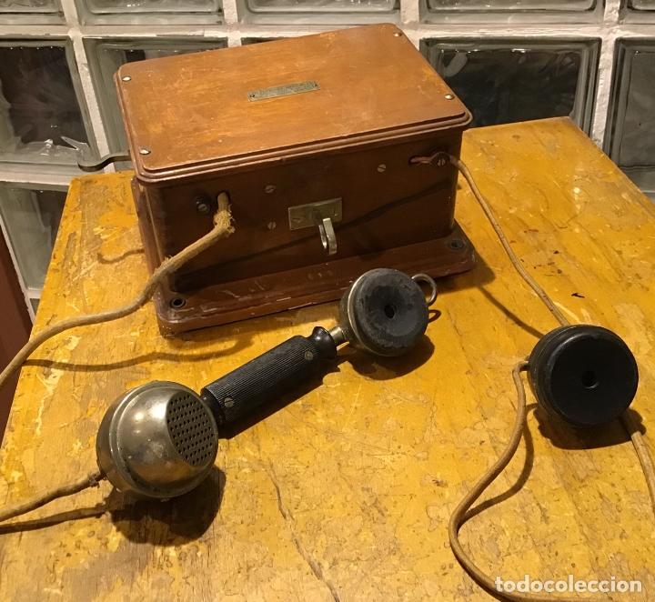 Antigüedades: UNÍS JB, TELÉFONO AÑOS 20 - Foto 2 - 181468006