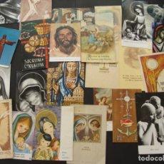Antigüedades: COLECCIÓN SURTIDA DE 25 ESTAMPAS RELIGIOSAS - DIFERENTES AÑOS - SALIDA 0,01€. Lote 181472418