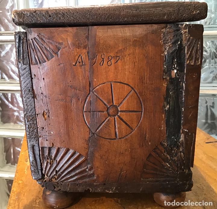 Antigüedades: COFRE DE ROBLE, AÑO 1887 - Foto 2 - 181495603