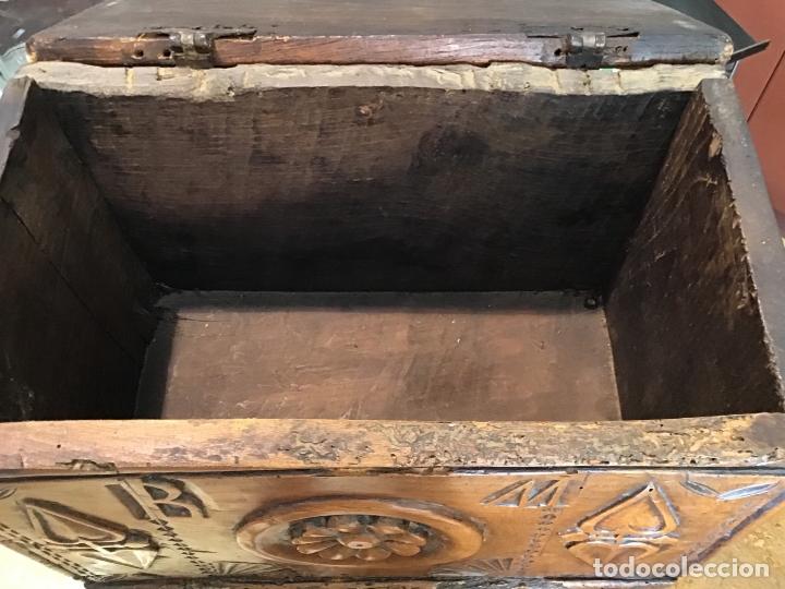 Antigüedades: COFRE DE ROBLE, AÑO 1887 - Foto 6 - 181495603