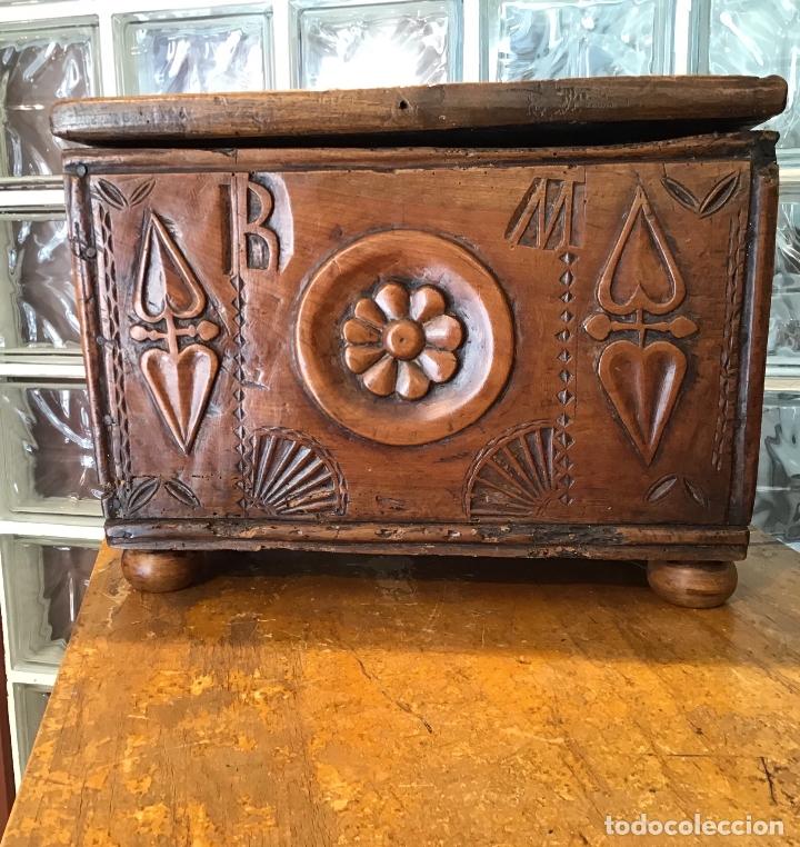 COFRE DE ROBLE, AÑO 1887 (Antigüedades - Hogar y Decoración - Cajas Antiguas)
