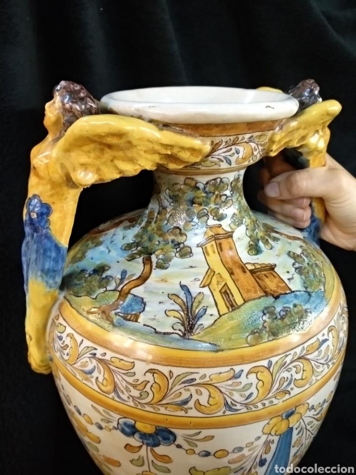 Antigüedades: Magnífico y Gran jarrón, Ruíz de Luna, Talavera, 47cm alto - Foto 14 - 181496558