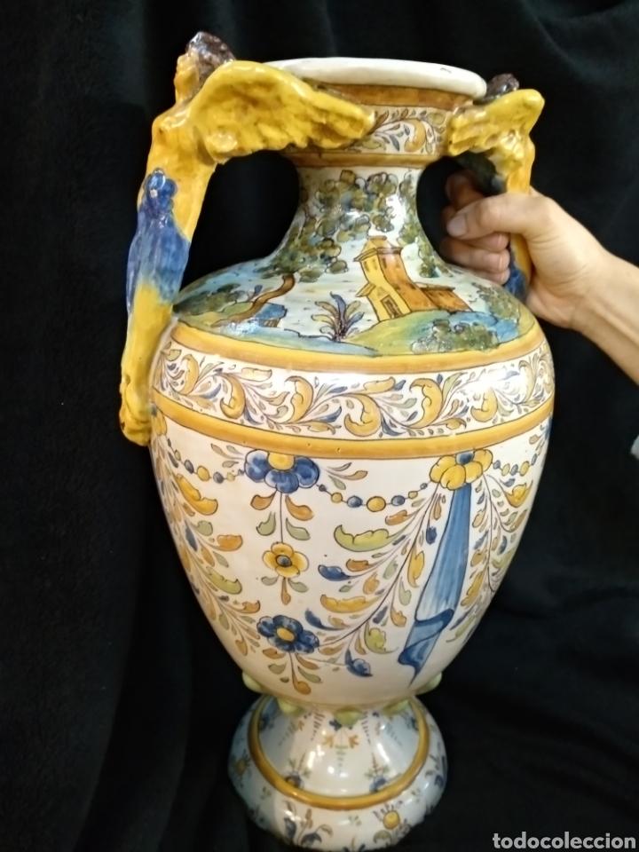 Antigüedades: Magnífico y Gran jarrón, Ruíz de Luna, Talavera, 47cm alto - Foto 15 - 181496558