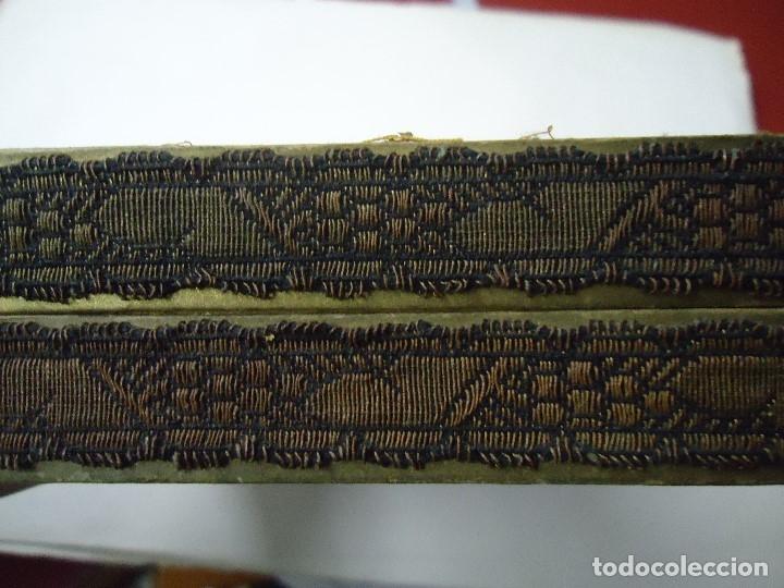 Antigüedades: caja decorada con tapiz años 50 mide 14x14x3,5cm. bien conservada preciosa curiosidad ver fotos - Foto 6 - 181498638