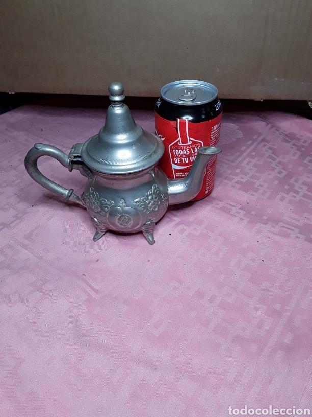 Antigüedades: Tetera arabe plateada - Foto 7 - 181502958