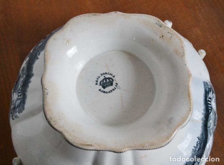 Antigüedades: ANTIGUA GRAN SOPERA REDONDA SELLADA SARGADELOS * SIGLO XIX - Foto 9 - 181508251