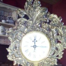 Antigüedades: RELOJ SOBREMESA DE BRONCE. Lote 181517186