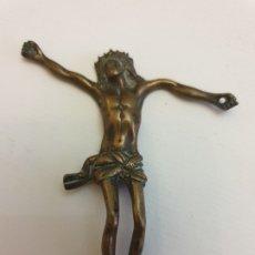 Antigüedades: CRISTO CRUCIFICADO METAL SIGLO XIX. Lote 181530956