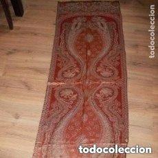 Antigüedades: FULAR CON HILO DORADO Y PLATEADO,PROCEDENCIA DE LA INDIA. Lote 181534082