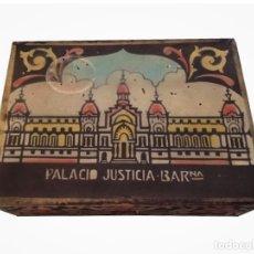 Antigüedades: CAJA DEL PALACIO DE JUSTICIA DE BARCELONA,RARISIMA. Lote 178344922
