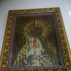 Antigüedades: ANTIGUO CUADRO CON 3 IMAGENES. MOVER PARA VER. VIRGEN DOLOROSA, STA TERESA NIÑO JESUS Y FATIMA. LEER. Lote 181537686