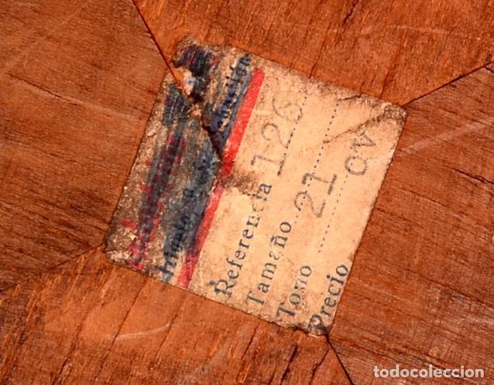 Antigüedades: CRUCIFIJO VINTAGE INDUSTRIAS EASO SAN SEBASTIÁN MARCO DORADO - Foto 3 - 181540237
