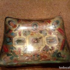 Antigüedades: ANTIGUO CENICERO DE VITOLAS EN CRISTAL. Lote 181544167