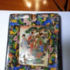 Antigüedades: ANTIGUO CENICERO PORCELANA CHINA.. Lote 181558196