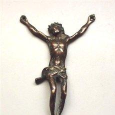 Antigüedades: ANTIGUO CRUCIFIJO DE BRONCE. SIGLO XVIII-XIX . Lote 181565622