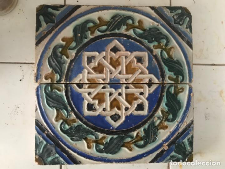 PAREJA DE AZULEJOS DE TRIANA (Antigüedades - Porcelanas y Cerámicas - Triana)