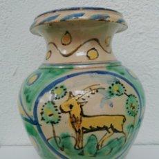 Antigüedades: JARRÓN DE CERÁMICA PUENTE DEL ARZOBISPO. Lote 181570515