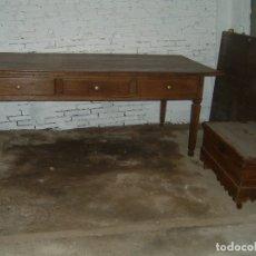 Antigüedades: MESA DE CASTAÑO GRANDE. Lote 38577003