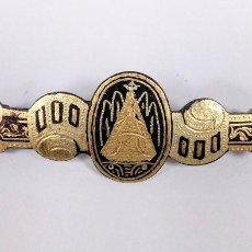Antigüedades: BROCHE DAMASQUINADO ANTIGUO VIRGEN DE MONTSERRAT - AC75. Lote 181577810