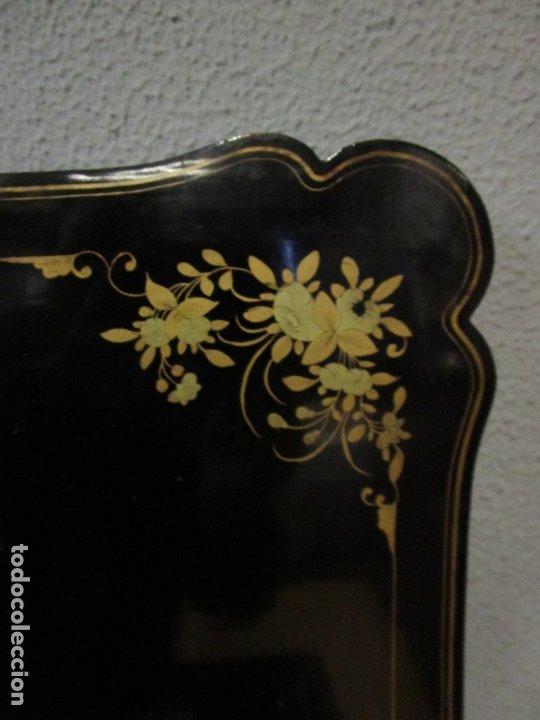 Antigüedades: Precioso Costurero - Madera Lacada y Dorada con Chinoiseries - Interior en Marfil y Espejo -S. XVIII - Foto 37 - 181594771