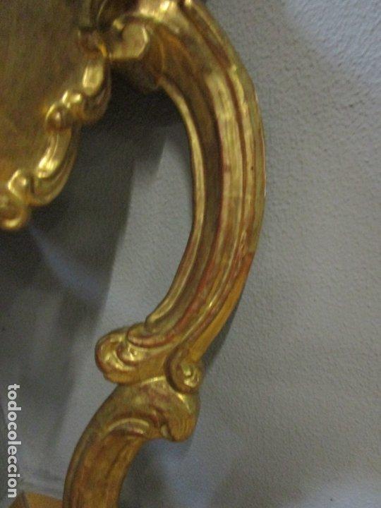 Antigüedades: Pareja de Consolas Rinconeras Barrocas - Carlos III - Madera Tallada y Dorada en Pan de Oro S. XVIII - Foto 17 - 181599410