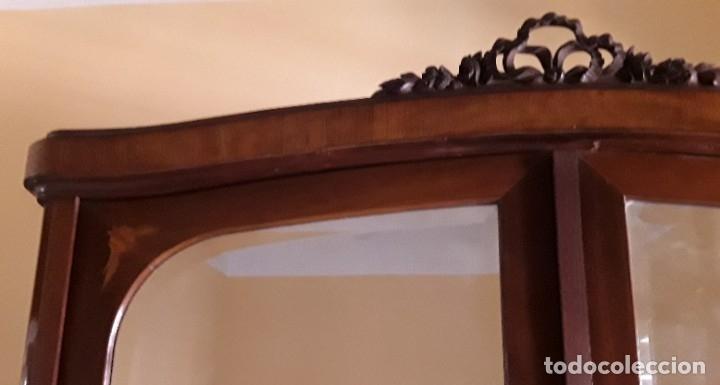 Antigüedades: Habitación completa caoba, de J.M.Busquets (Girona). Años 30. Cama,mesilla ,armario y sillas. - Foto 19 - 181602880