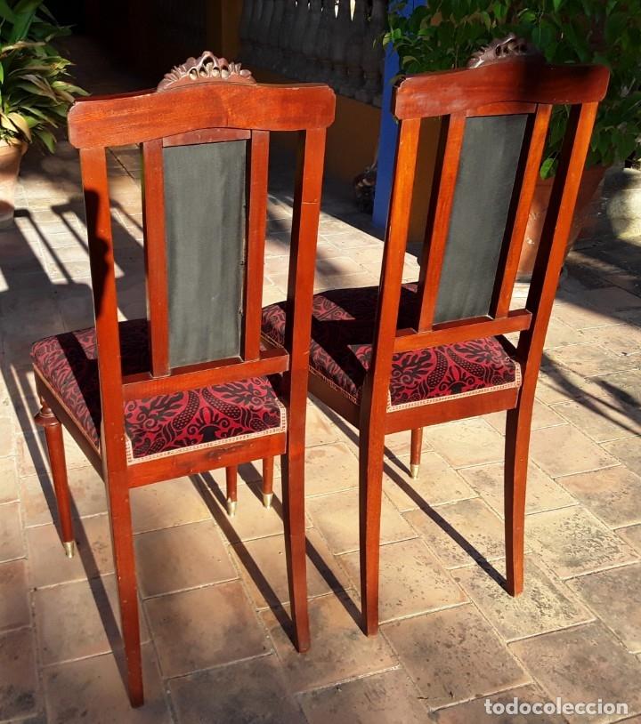 Antigüedades: Habitación completa caoba, de J.M.Busquets (Girona). Años 30. Cama,mesilla ,armario y sillas. - Foto 21 - 181602880
