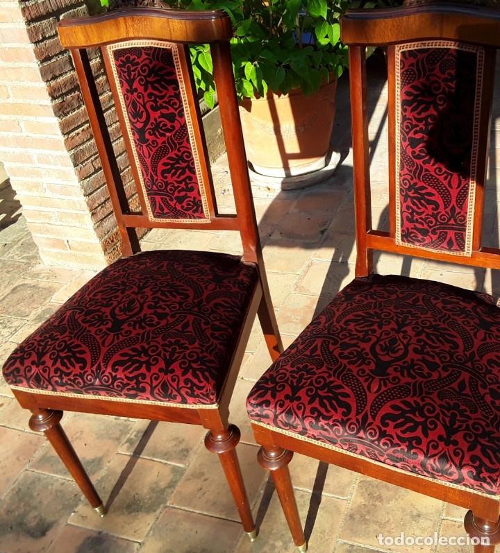 Antigüedades: Habitación completa caoba, de J.M.Busquets (Girona). Años 30. Cama,mesilla ,armario y sillas. - Foto 23 - 181602880
