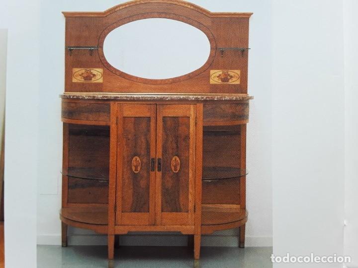 Antigüedades: Habitación completa caoba, de J.M.Busquets (Girona). Años 30. Cama,mesilla ,armario y sillas. - Foto 33 - 181602880