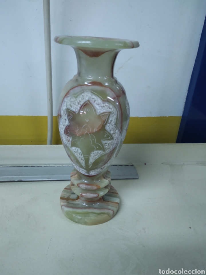 Antigüedades: Jarrón alabastro - Foto 3 - 181619023