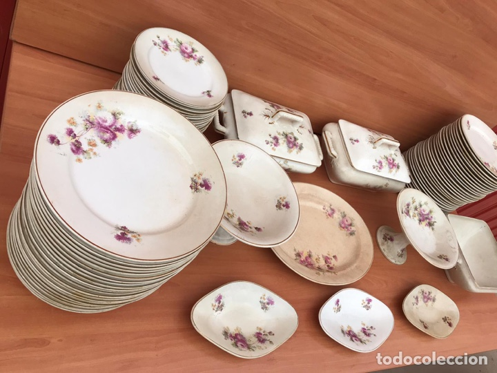 VAJILLA DE LOZA LA CARTUJA FILO DE ORO (Antigüedades - Porcelanas y Cerámicas - La Cartuja Pickman)