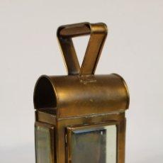 Antigüedades: FAROL ANTIGUO DE LATÓN. Lote 181668317