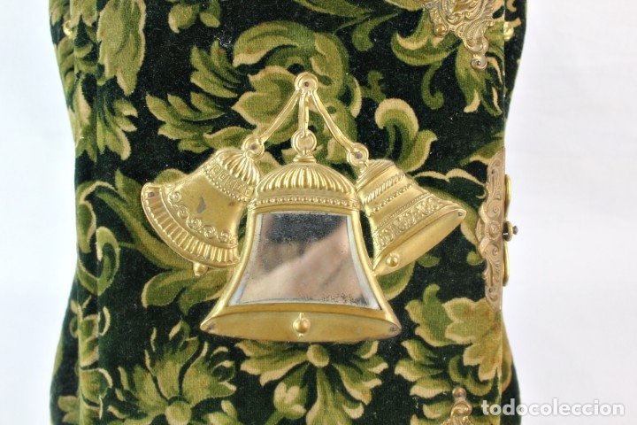 Antigüedades: Album modernista de sobremesa, es a su vez espejo, velvet bronce ligero s XIX Barcelona Art Nouveau - Foto 5 - 181705767