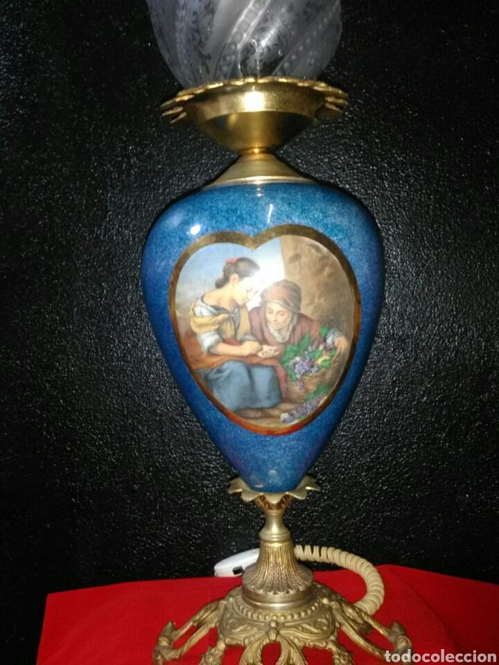 Antigüedades: PRECIOSA LAMPARA DE MESA VINTAGE - Foto 2 - 181718200