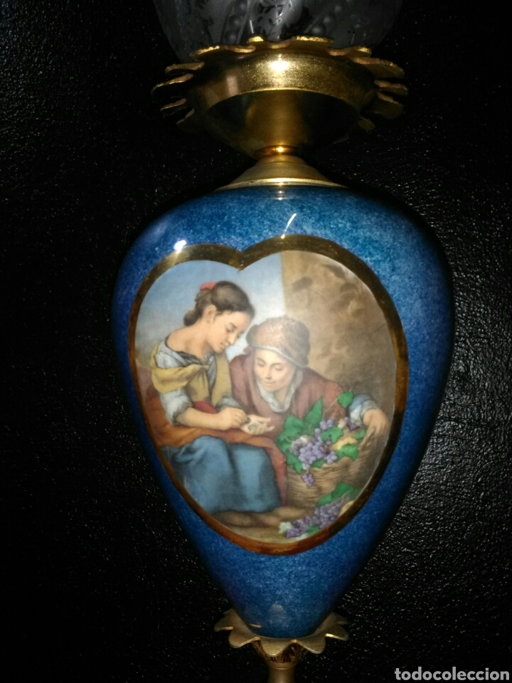 Antigüedades: PRECIOSA LAMPARA DE MESA VINTAGE - Foto 4 - 181718200