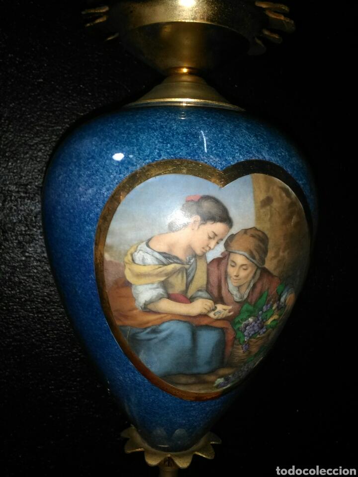 Antigüedades: PRECIOSA LAMPARA DE MESA VINTAGE - Foto 9 - 181718200