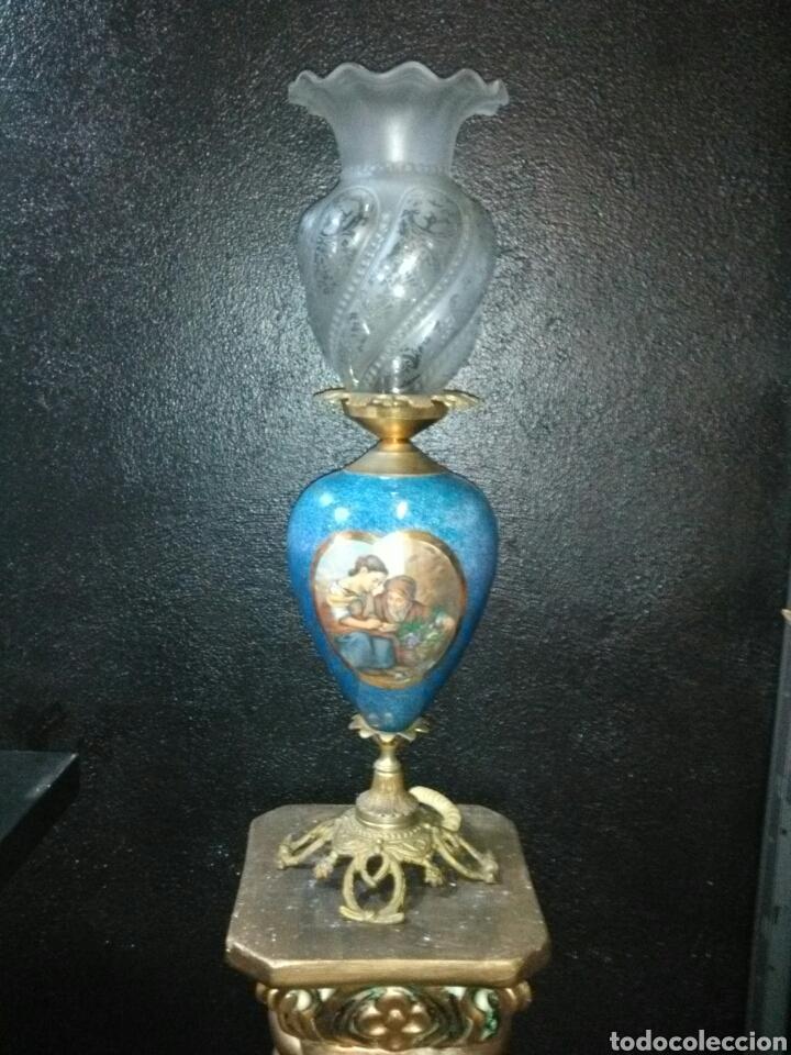 Antigüedades: PRECIOSA LAMPARA DE MESA VINTAGE - Foto 10 - 181718200